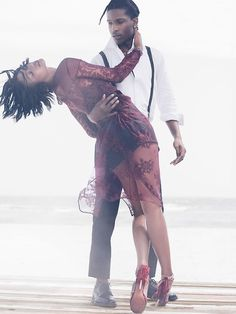 """The Dance of Seduction"" Chanel Iman and A$AP Rocky by Mikael Jansson for US Vogue September 2014"