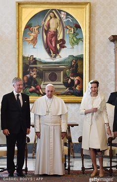 Pope Francis on Monday met with King Philippe of Belgium and Queen Mathilde of Belgium on March 9, 2015 at the Vatican. A statement by the Holy See Press Office said the talks were 'cordial', and the good bilateral relations between Belgium and the Holy See were confirmed.