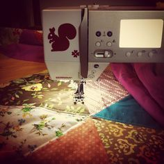 Our fan from Instagram @beehivehunny is quilting away with her BERNINA.