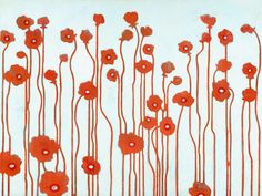 Poppies by Sally Bennett Painting Print on Wrapped Canvas