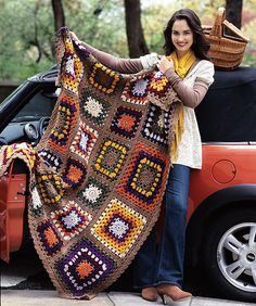 Mosaic Granny 'Ghan. Pattern from Crochet Today! The Ultimate Blankets Handbook.