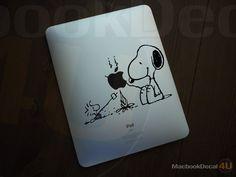 Snoopy Bonfire Party Ipad Decal sticker Ipad / Ipad2 / Ipad3. $8.90, via Etsy.