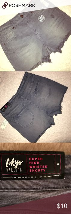 Super sexy High waisted shorties from Aeropostale Brand NWT! Never worn! Super soft and stretchy. High waisted, with 2.5 inch inseam. The color of the shorts is grey with distressing. Aeropostale Shorts Jean Shorts