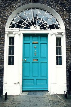 Georgian door to a residence in Dublin...like the color!