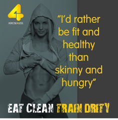 Fit & healthy or skinny & hungry?
