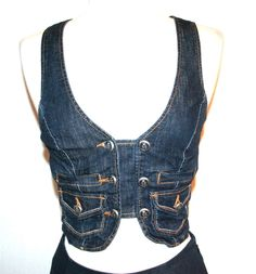 Velvet Heart Stretch Denim Button Front Cropped Bustier Top #VelvetHeart #BustierCorset