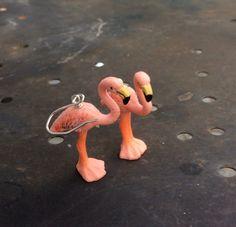 Flamingo Ohrringe und Sterling Silber von Designvonmerrill auf Etsy