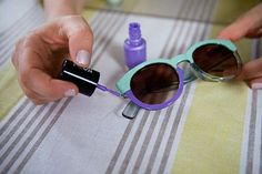 Add color-blocking to your shades with two-toned sunglasses.Find out how from PS- I Made This...! via StyleList