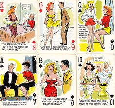 Story of the Stag Deck. Bill Wenzel, Master Pin Up Artist draws 52 cards. See JOKERS at LINK