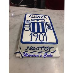 Alianza Lima birthday cake. Visit us Facebook.com/marissa'scake or www.marissa'scake.com