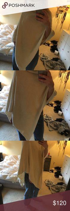 Nili lotan turtleneck wool poncho sweater Worn once. Nili Lotan Sweaters Shrugs & Ponchos