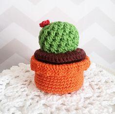 Cactus trinket box - free crochet pattern by Hello Happy. Cactus Amigurumi, Amigurumi Free, Crochet Cactus, Crochet Cozy, Crochet Gratis, Love Crochet, Crochet Flowers, Box Patterns, Crochet Toys Patterns
