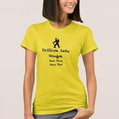 Trillium Lake Oregon T-Shirt - outdoor gifts unique cyo personalize
