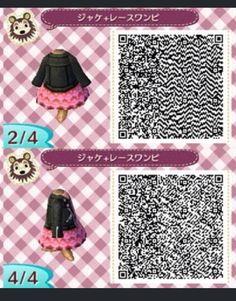 Acnl qr code - leather jacket, pink dress 2
