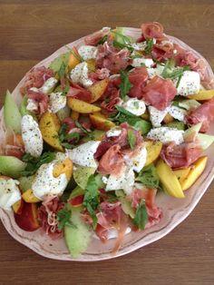 Meloen en buffelmozzarella