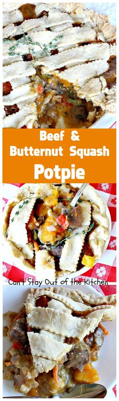 Beef and Butternut Squash Potpie | Can't Stay Out of the Kitchen | these #potpies are amazing. #Steak, apples