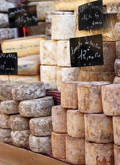 Food stall at the Rognes Truffle Market, Provence, France