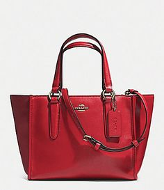 COACH CROSBY MINI CARRYALL IN SMOOTH LEATHER #Dillards