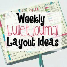 Weekly Bullet Journal Layout Ideas - love the dutch door idea
