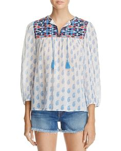 208.00$  Buy now - http://viode.justgood.pw/vig/item.php?t=fux3pj38162 - Joie Erlene Embroidered Top - 100% Exclusive 208.00$