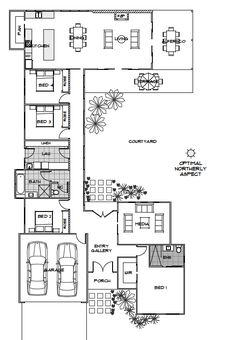 Elara | Green Homes Australia: swap bedroom 1 and garage and would be ideal.