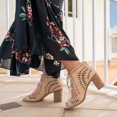 Vince Camuto Tarita Cutout Lace-Up Sandal- Fancy Things