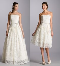 Aria Lace Wedding Dresses Short Reception