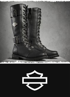 Authentic styling marks this lace-up boot. | Harley-Davidson Women's Belhaven Performance Boots