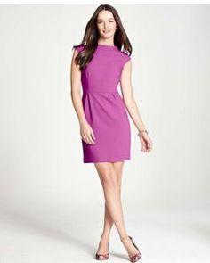 Ann taylor Doubleweave Cap Sleeve Dress
