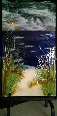 Painted Glass Art Old Windows Refferal: 3382519620 Glass Wall Art, Fused Glass Art, Stained Glass Art, Mosaic Glass, Glass Fusion Ideas, Slumped Glass, Stained Glass Patterns, Stained Glass Designs, Glass Panels