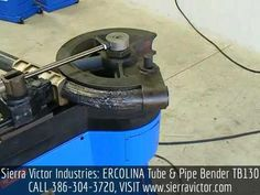 Available at Sierra Victor Industries: ERCOLINA Tube & Pipe Bender. Model TB130. For more information or  to order, CALL 386-304-3720, VISIT http://sierravictor.com/index.php?dispatch=products.view&product_id=1378