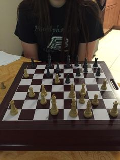 I enjoy playing chess with my girlfriend. This also shows my competitor personality as we have a running tally of how many wins each of us has. Currently it is at 19-17 to me. This for of play is voluntary and can also show a freedom from time. Often times we spend a couple hours playing chess before we notice that we have played 5 matches. Image found on my twitter: twitter.com/NicholasMcInroy/ How To Play Chess, Twitter Twitter, Me As A Girlfriend, Personality, Freedom, Couple, Entertaining, Times, Running