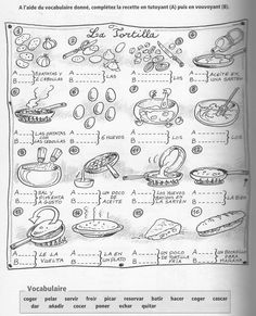 tortilla de patatas - ejercicio verbos en imperativo.- Source L'espagnol de A à Z, page 88