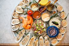 The shellfish platter at the Ordinary, a seafood-focused restaurant.Credit