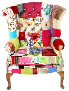 LOVE these patchwork chairs!