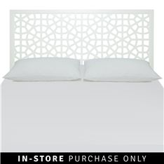 white moroccan headboard