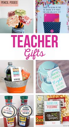 Fun and simple teacher gift ideas that will not break the bank. Free printable gift tags for teachers. Gifts for teacher appreciation, year-end, holidays and birthdays. Easy Teacher Gifts, Teacher Gift Tags, Student Teacher Gifts, Preschool Teacher Gifts, Gifts For Daycare Teachers, Teacher Presents, Teacher Gift Baskets, Teacher Birthday Gifts, Teacher Retirement