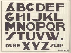 Vintage (1950) type and lettering