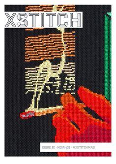 XStitch Magazine, Issue 12 - Noir. Cross Stitch Designs, Cross Stitch Patterns, Crime Comics, Classic Corvette, Cross Stitch Magazines, Cross Stitching, Mystery, Contemporary Embroidery, Black People