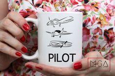 Pilot Airplane Mug - 11oz - 17oz - Airplane - AvGeek - Aviation - Gift for Pilot - Coffee Mug - Cessna - Mug - Cessna - Jet - Airport by MGAPDX on Etsy