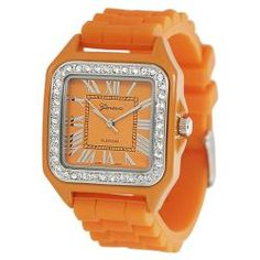 Geneva Platinum Women's Square-shaped Rhinestone Silicone Watch  @Overstock - This stylish jelly watch will surely add a pop of color to your wardrobe! The piece is enhanced by sparkling Czech rhinestones, while the adjustable buckle clasp ensures a secure closure.http://www.overstock.com/Jewelry-Watches/Geneva-Platinum-Womens-Square-shaped-Rhinestone-Silicone-Watch/6425255/product.html?CID=214117 $23.09