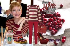 """Cranberry tones"" by juliaromanova ❤ liked on Polyvore"