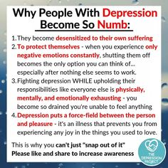 Suffering from Depression is a mental illness caused by too much resentment, feeling miserable and sadness, isolated from community and friends. Mental And Emotional Health, Mental Health Matters, Mental Health Quotes, Emotional Detachment, Emotional Healing, Health Advice, Mental Illness Awareness, Depression Awareness, Anxiety And Depression