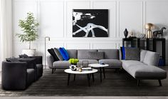 Neo modular sofa by King Living featured in this sophisticated and welcoming contemporary room.