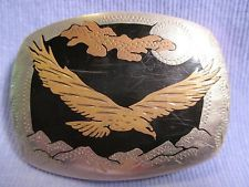 FLYING EAGLE Hand Made COLORADO SILVER CO USA Made Belt Buckle MAKE OFFER $95.00 or Best Offer Free shipping