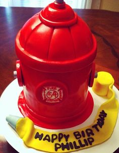 Fire Hydrant & Hose  Birthday Cake | Shared by LION