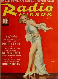 Alice Faye on the cover of Radio Mirror