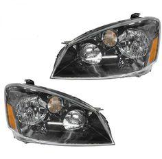 Halogen Headlamps Headlights Left LH & Right RH Pair Set for 05-06 Altima New  #BrandNewAftermarkerReplacement