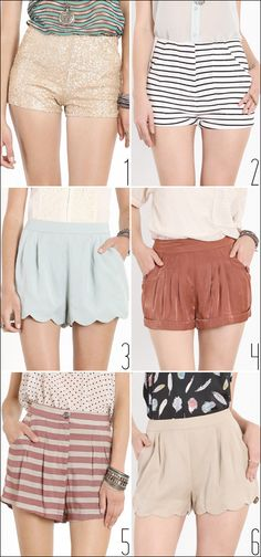 High waisted shorts. shorts. shorts all around LOVE THESE!!
