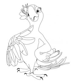 Free Printable Disney characters cartoon Jewel Rio Coloring Pages for kids Kids Printable Coloring Pages, Free Kids Coloring Pages, Bird Coloring Pages, Disney Coloring Pages, Coloring Pages For Kids, Free Coloring, Adult Coloring, Coloring Books, Kids Colouring
